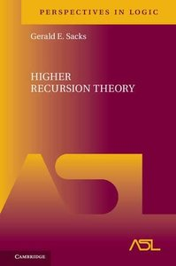 Higher Recursion Theory (Perspectives in Logic)-cover