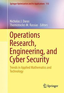 Operations Research, Engineering, and Cyber Security: Trends in Applied Mathematics and Technology (Springer Optimization and Its Applications)-cover