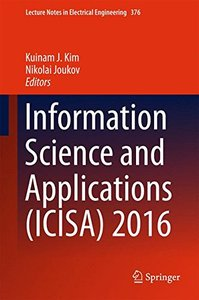 Information Science and Applications (ICISA) 2016 (Lecture Notes in Electrical Engineering)-cover
