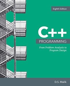 C++ Programming: From Problem Analysis to Program Design-cover