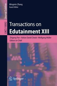 Transactions on Edutainment XIII (Lecture Notes in Computer Science)-cover