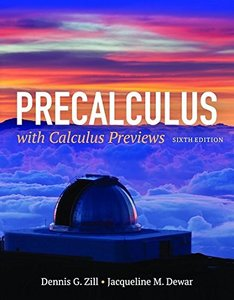 Precalculus With Calculus Previews, 6/e (Hardcover)-cover