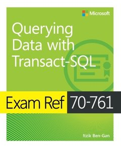 Exam Ref 70-761 Querying Data with Transact-SQL-cover