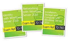 MCSA Windows Server 2016 Exam Ref 3-Pack: Exams 70-740, 70-741, and 70-742-cover