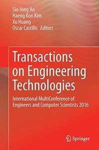 Transactions on Engineering Technologies: International MultiConference of Engineers and Computer Scientists 2016-cover