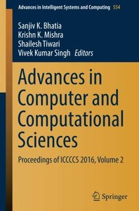 Advances in Computer and Computational Sciences: Proceedings of ICCCCS 2016, Volume 2 (Advances in Intelligent Systems and Computing)-cover