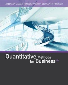 Quantitative Methods for Business, 13/e (Hardcover)-cover