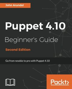 Puppet 4.10 Beginner's Guide - Second Edition-cover