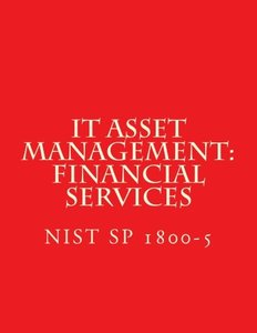 IT Asset Management: Financial Services NIST SP 1800-5: Practice Guide (Draft Jan 2016)-cover