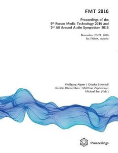 FMT 2016 - Proceedings of the 9th Forum Media Technology and 2nd All Around Audio Symposium-cover