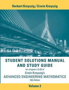 Student Solutions Manual Advanced Engineering Mathematics, Volume 2 10/e-cover