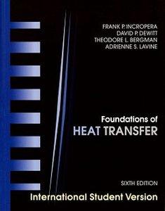 Foundations of Heat Transfer, 6/e (Paperback)-cover