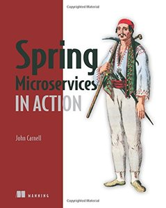 Spring Microservices in Action (Paperback)-cover