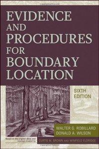 Evidence and Procedures for Boundary Location, 6/e (Hardcover)-cover