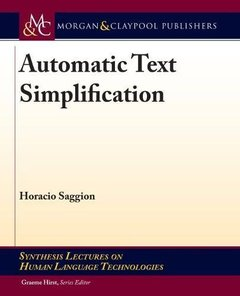 Automatic Text Simplification (Synthesis Lectures on Human Language Technologies)-cover