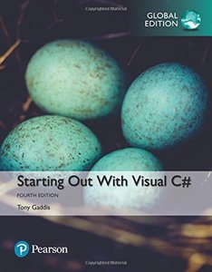 Starting out with Visual C#, 4/e (IE-Paperback)-cover