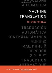 Machine Translation (The MIT Press Essential Knowledge series)-cover