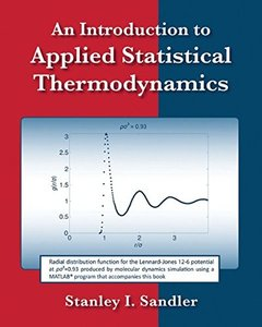 An Introduction to Applied Statistical Thermodynamics (Paperback)-cover