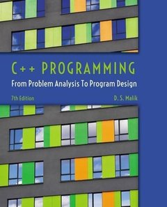 C++ Programming: From Problem Analysis to Program Design, 7/e (Paperback)-cover