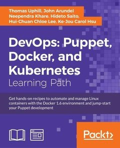 DevOps: Puppet, Docker, and Kubernetes-cover