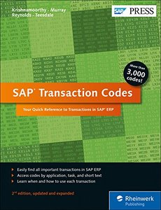 SAP Transaction Codes: Your Quick Reference to T-Codes in SAP ERP (SAP PRESS)-cover