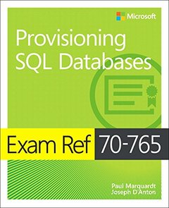 Exam Ref 70-765 Provisioning SQL Databases-cover