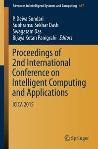 Proceedings of 2nd International Conference on Intelligent Computing and Applications: ICICA 2015 (Advances in Intelligent Systems and Computing)-cover