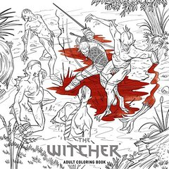 The Witcher Adult Coloring Book-cover