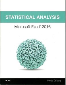 Statistical Analysis: Microsoft Excel 2016-cover