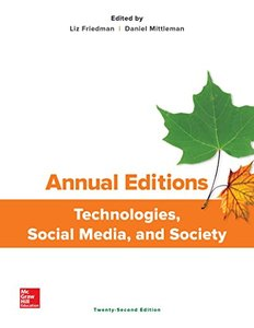 Annual Editions: Technologies, Social Media, and Society-cover
