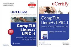 CompTIA Linux+ / LPIC-1 Textbook and Pearson uCertify Course and Labs Bundle-cover