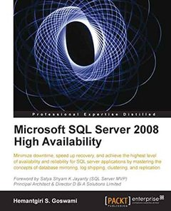 Microsoft SQL Server 2008 High Availability-cover