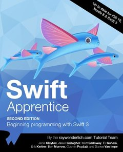 The Swift Apprentice Second Edition: Beginning programming with Swift 3-cover