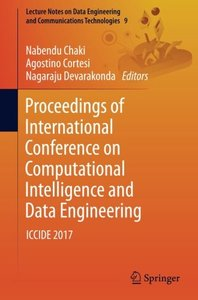 Proceedings of International Conference on Computational Intelligence and Data Engineering: ICCIDE 2017 (Lecture Notes on Data Engineering and Communications Technologies)-cover