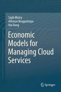 Economic Models for Managing Cloud Services-cover