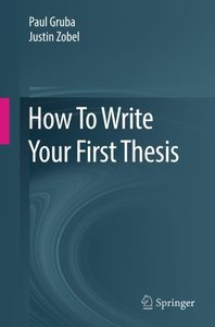 How To Write Your First Thesis-cover