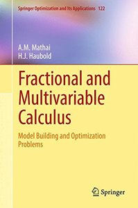 Fractional and Multivariable Calculus: Model Building and Optimization Problems (Springer Optimization and Its Applications)-cover