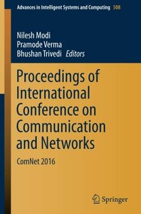 Proceedings of International Conference on Communication and Networks: ComNet 2016 (Advances in Intelligent Systems and Computing)-cover