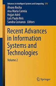 Recent Advances in Information Systems and Technologies: Volume 2 (Advances in Intelligent Systems and Computing)-cover