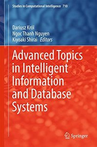 Advanced Topics in Intelligent Information and Database Systems (Studies in Computational Intelligence)-cover