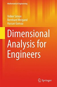 Dimensional Analysis for Engineers (Mathematical Engineering)-cover