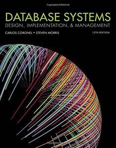 Database Systems: Design, Implementation, & Management, 13/e (Hardcover)-cover