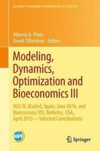 Modeling, Dynamics, Optimization and Bioeconomics III: DGS IV, Madrid, Spain, June 2016, and Bioeconomy VIII, Berkeley, USA, April 2015 – Selected Proceedings in Mathematics & Statistics-cover
