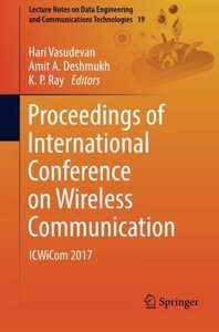 Proceedings of International Conference on Wireless Communication: ICWiCom 2017 (Lecture Notes on Data Engineering and Communications Technologies)-cover
