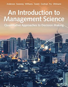 An Introduction to Management Science: Quantitative Approach, 15/e (Hardcover)-cover