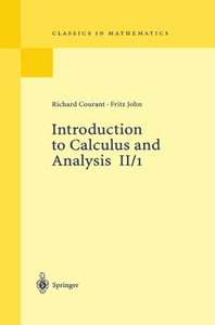 Introduction to Calculus and Analysis, Vol. II/1 (Paperback)-cover