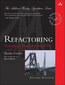 Refactoring: Improving the Design of Existing Code, 2/e (Hardcover)-cover