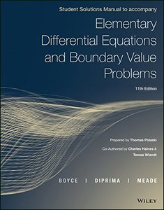 Elementary Differential Equations and Boundary Value Problems, 11e Student Solutions Manual-cover