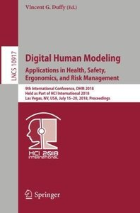 Digital Human Modeling. Applications in Health, Safety, Ergonomics, and Risk Management: 9th International Conference, DHM 2018, Held as Part of HCI ... (Lecture Notes in Computer Science)-cover