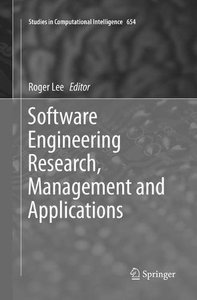 Software Engineering Research, Management and Applications (Studies in Computational Intelligence)-cover